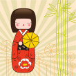 Kokeshi Japanese doll - Stock Photo