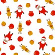 Seamless christmas pattern — Stock Photo