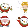 Christmas characters set — Stock Photo