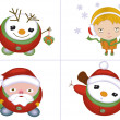 Royalty-Free Stock Photo: Christmas characters set