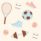 Seamless sporting goods — Stock Photo