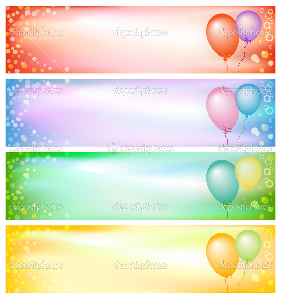 Party banners — Stock Photo © Inna Ogando #