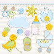 Baby boy set — Stock Vector #3079821