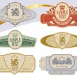Royalty-Free Stock Vector Image: Vintage style labels