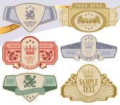 Vintage style labels — Stock Vector