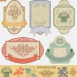 Stock Vector: Vintage style labels