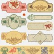 Vector de stock : Vintage style labels
