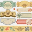 Vintage style labels - Stock Vector