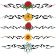 Flower tribal tattoo — Stock Vector #3091113
