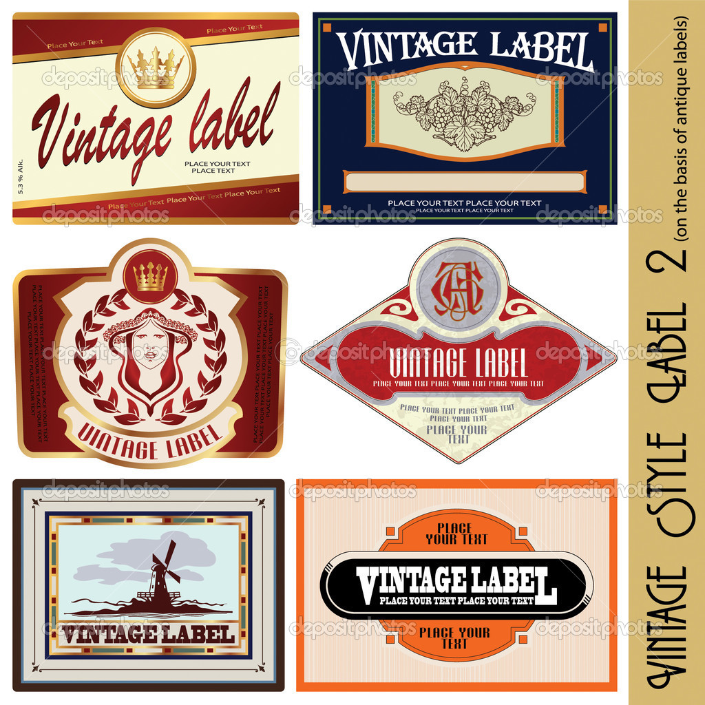 Vintage style label (on the basis of antique labels) — Stock Vector #3164733