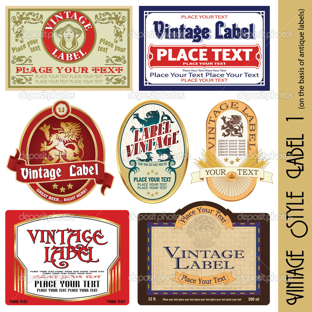 Vintage style label (on the basis of antique labels)  Stock Vector #3164737