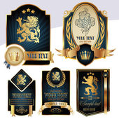 Gold-framed labels — Stock Vector