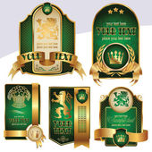 Gold-framed labels — Stock Vector