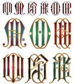 Set di lettere ad incastro — Vettoriale Stock