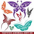 Templates butterfly for tattoo — Stock Vector
