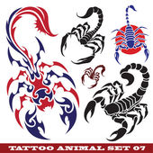 Templates scorpions for tattoo — Stock Vector