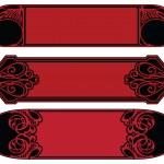 ancien vecteur de bannière pour décoration et conception — Vecteur