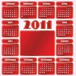 Calendar for Year 2011 — Stock Vector