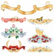 Beautiful ribbons for decoration and design - Stock Vector
