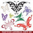 Templates butterfly for tattoo — Stock Vector #3731999