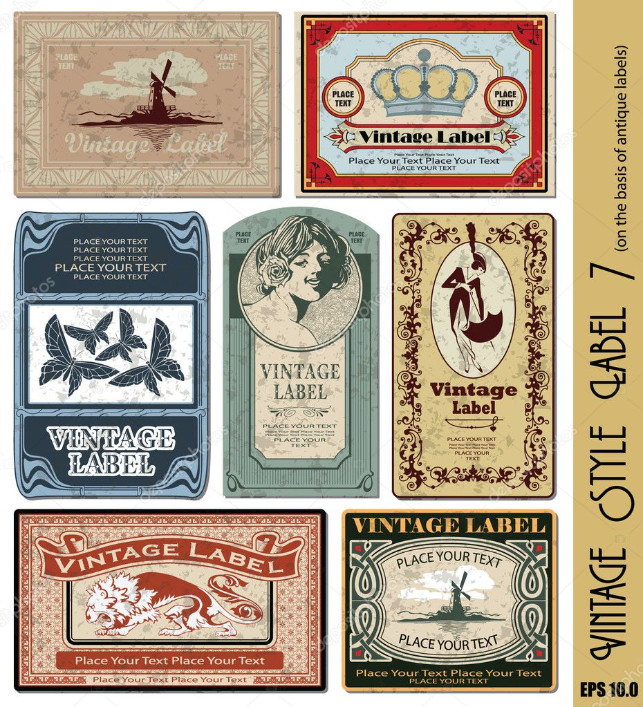 Vintage style label (eps 10.0 with grunge background) — Stockvectorbeeld #3732003