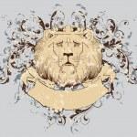 Vector lion t-shirt — Stock Vector #3810050