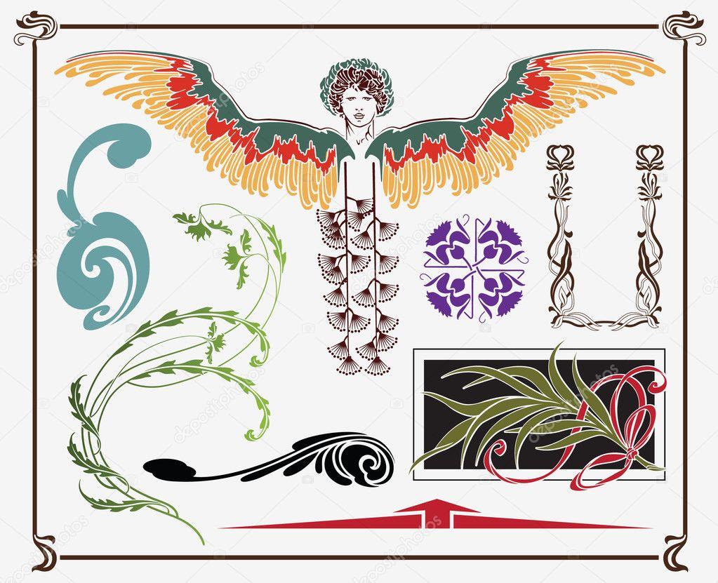 Art Nouveau Design Stock Vector Bomg11 3810044