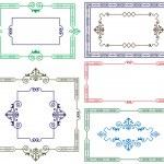 Decorative border for design — Stock Vector
