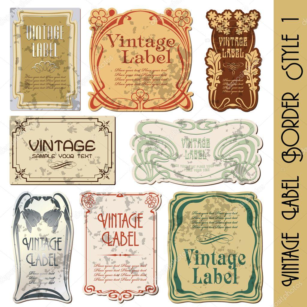 vintage style label stock vector bomg11 3901841. Black Bedroom Furniture Sets. Home Design Ideas