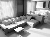 白色客厅 — 图库照片