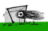 Sketch on a football — Stockfoto