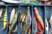 Set of fishing equipment — Stock Photo
