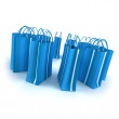 Blue shopping bags — Stock Photo