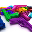 Multicolored guns — Stock Photo
