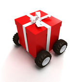 Gift delivery — Stock Photo