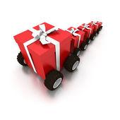 доставка подарков — Стоковое фото