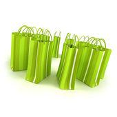Green shopping circle — Stock Photo