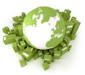 Green transportation Atlantic — Stock Photo