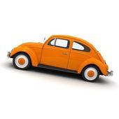 European orange vintage car — Stock Photo