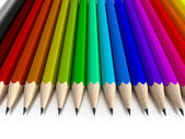 Different colored pencils vertical — Stockfoto