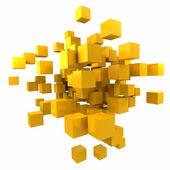 Fondo cúbico amarillo anaranjado — Foto de Stock