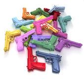 Pastelowe kolorowe broń — Zdjęcie stockowe