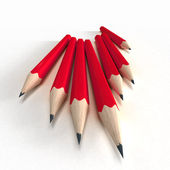 Röda pennor — Stockfoto