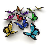 Solar powered butterflies — Stock Photo