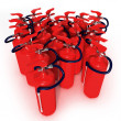 Group of fire extinguishers — Stock Photo