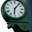 Old railway station clock — Stock Photo