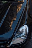 Dettaglio di una macchina nera — Foto Stock