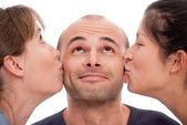 Doppio bacio — Foto Stock