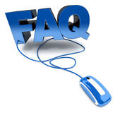 FAQ online blue — Stock Photo
