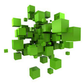 Green cubic background — Stock Photo